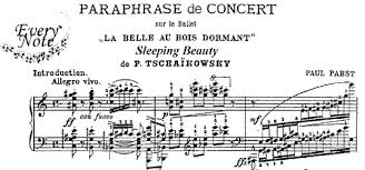 pabst paraphrase themes tchaikovsky u0027s u0027sleeping