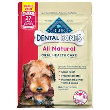 blue buffalo blue dental bones regular size dog treats petco