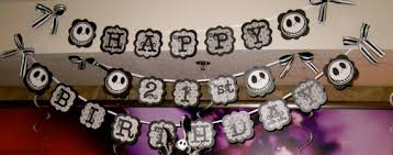 nightmare before christmas party supplies happy birthday nightmare before christmas birthday banners