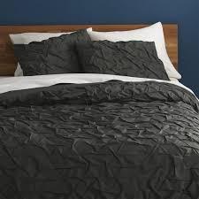 Duvet Covers For Queen Bed Melyssa Carbon Full Queen Duvet Cover Cb2
