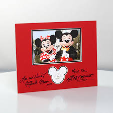 mickey minnie mouse photograph custom mat disney floral