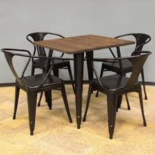 Dining Room Table Styles Amerihome Loft Style 32 In X 32 In Dining Table Set In Black