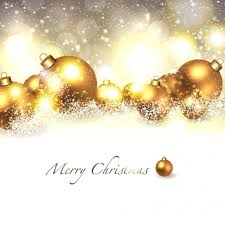merry christmas background with golden ball vectors stock in