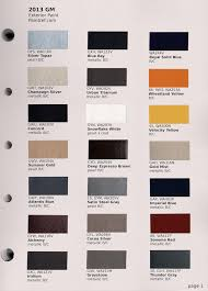 paint chips 2013 gm chevrolet