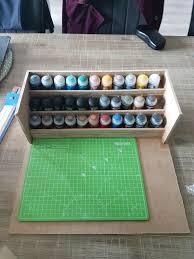 diy easy to put away paint station album on imgur