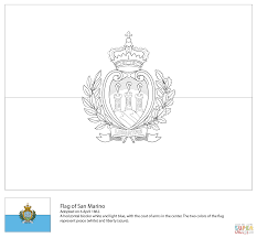flag of san marino coloring page free printable coloring pages