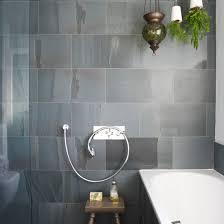 bathroom with slate tiles wet room designs housetohome gray slate
