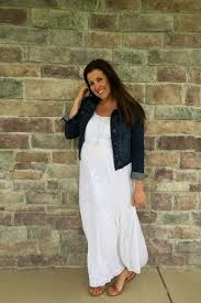 how to wear a white maxi dress for summer momma in flip flops