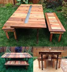 Plans For Wooden Picnic Tables by 13 Diy Cooler Table Plans To Build For Outdoor Beer Drinks Or