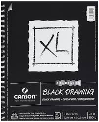amazon com canson xl series black drawing pad 9