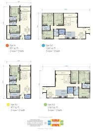 H2o Residences Floor Plan by One Amerin Residence Balakong