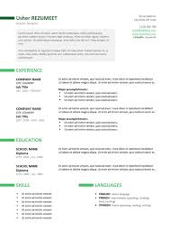 Ut Resume Ueno Professional Resume Template