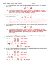 periodic table worksheet answer key periodic table trends worksheet answer key www microfinanceindia org