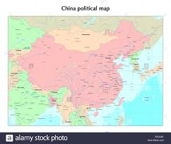 Beijing World Map by China Political Map Stock Photo Royalty Free Image 18130915 Alamy