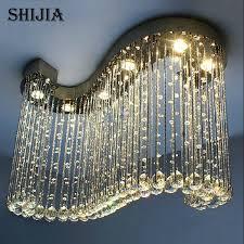 Ball Chandelier Lights Luxury Modern Chandelier 6pcs Gu10 Light K9 Crystal Ball S Shape