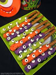 eerie eyeball pretzel rods young at heart mommy