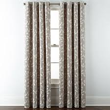 Jcpenney Home Collection Curtains Home Quinn Leaf Grommet Top Curtain Panel Window Decorating