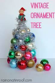 diy vintage ornament tree