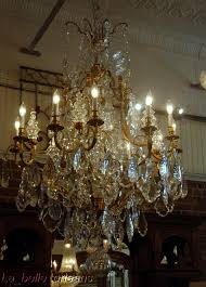 Bronze And Crystal Chandeliers Monumental Pair French Crystal U0026 Bronze Chandeliers For Sale