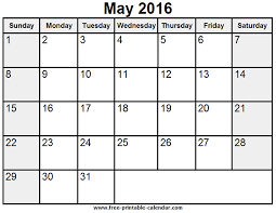 printable may 2016 calendar ideas for the house