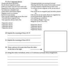 bill nye magnetism video worksheet by mayberry in montana tpt