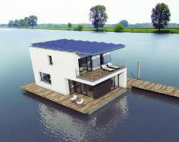 SolarPowered Autarkhome House Boat Brings Passivhaus Living To - Solar powered home designs