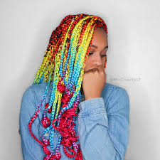 Hairstyles With Jumbo Braiding Hair Catface Hair Rainbow Ombre Jumbo Braiding Hair U2013 Catface Hair