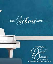 decal drama vinyl wall decal personalized name sign wedding