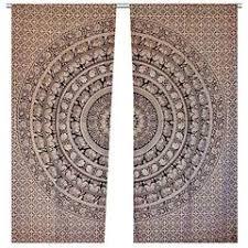 Indian Curtain Fabric Large Blue Ombre Mandala Window Curtain Indian Drape Handmade Curtain