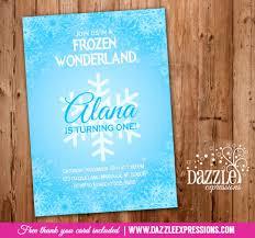 printable frozen snowflake birthday invitation winter wonderland