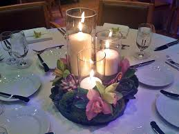 Anniversary Centerpiece Ideas by Succulents Orchids And Candles Centerpiece Wedding Ideas