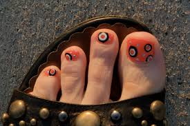 halloween pedicure see more at http www nailsss com see