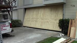 garage door seal replacement a wood one piece garage door youtube