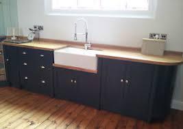 belfast sink kitchen painted free standing kitchen belfast sink unit cupboards ebay