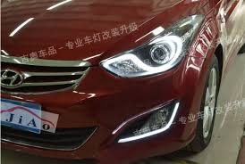 hyundai elantra daytime running lights hireno car led drl waterproof abs 12v daytime running lights for