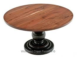 round walnut dining table pedestal base custom made