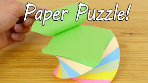 make a paper puzzle brain teaser youtube