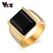 aliexpress buy vnox 2016 new wedding rings for women vnox men s ring black large 316l stainless steel jewelry for