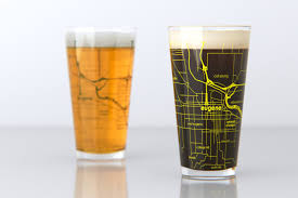 Map Of Oregon Cities And Towns by Eugene Or University Of Oregon College Town Map Pint Glass