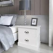 comodini in stile set 1 2 pz comodini in stile francese con 2 cassetti letto