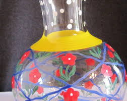 Glass Vase Painting Hand Painted Vase Etsy