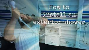 How To Plumb An Outdoor Shower - how to install an rv exterior shower youtube
