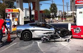 corvette crash chrome corvette stingary crash in california gm authority