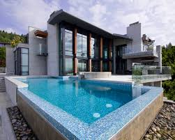 Waterfall Glass Tile Mosaic Ceramic Tile Of Pool Walls Also It Coping In Alka Swimming