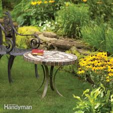 patio table with removable tiles build an outdoor table with tile top and steel base family handyman