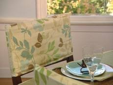 how to make a chair cover how to sew chair covers hgtv