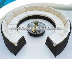 canape forme ronde mobilier extérieur en aluminium rotin tressée canape rond canapé