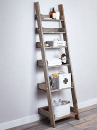Small Rustic Bookcase Likeness Of Cottage Bathroom Look Add This Bathroom Ladder Shelf