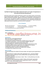 Sample Business Development Resume by Sample Resume International Business Development Manager Augustais