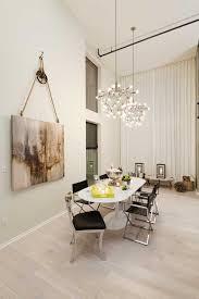 Hanging Curtains High Decor Venice Loft Contemporary Dining Room Los Angeles Susan